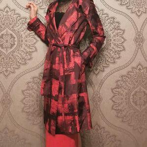 BCBG MaxAzria NWOT 100% silk trench coat